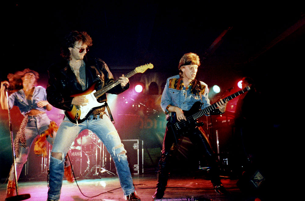 BAD SISTER Support for Ian Gillan during Naked Thunder Tour 1990