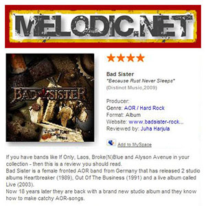 Bad Sister - Review Melodic.net (Sweden)